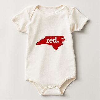 NORTH CAROLINA RED STATE BABY BODYSUIT