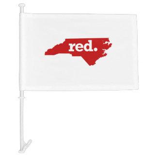 NORTH CAROLINA RED STATE CAR FLAG