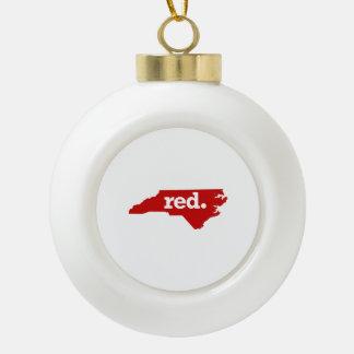 NORTH CAROLINA RED STATE CERAMIC BALL DECORATION