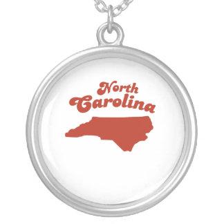 NORTH CAROLINA Red State Round Pendant Necklace