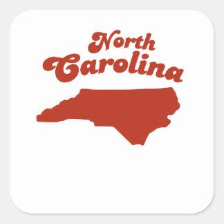 NORTH CAROLINA Red State Square Sticker