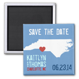 North Carolina Save the Date - Customizable City Magnet