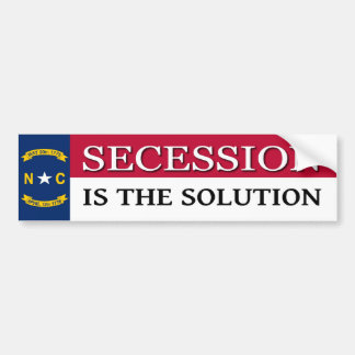 North Carolina Secession Bumper Sticker