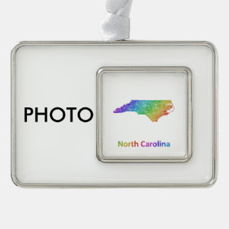North Carolina Silver Plated Framed Ornament