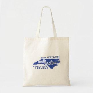 north carolina | song lyrics | blue tote bag