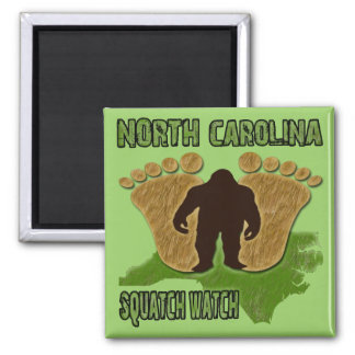 North Carolina Squatch Watch Square Magnet