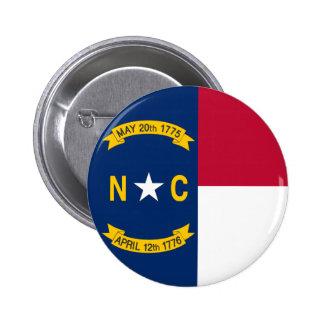 North Carolina State Flag 6 Cm Round Badge