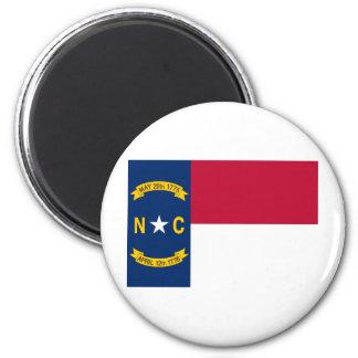 North Carolina State Flag 6 Cm Round Magnet