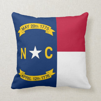 North Carolina State Flag American MoJo Pillow