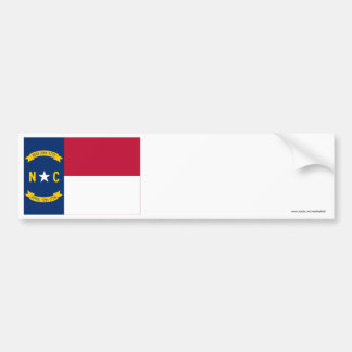 North Carolina State Flag Bumper Stickers