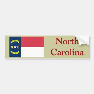 North Carolina State Flag Car Bumper Sticker