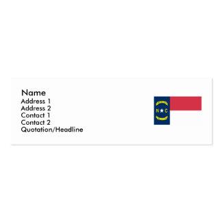 North Carolina State Flag Business Card Template