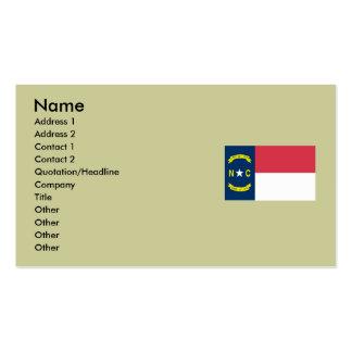 North Carolina State Flag Business Cards