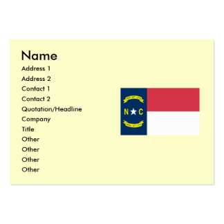 North Carolina State Flag Pack Of Chubby Business Cards