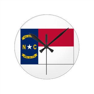 North Carolina State Flag Wall Clocks