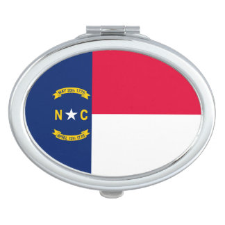 North Carolina State Flag Design Compact Mirror