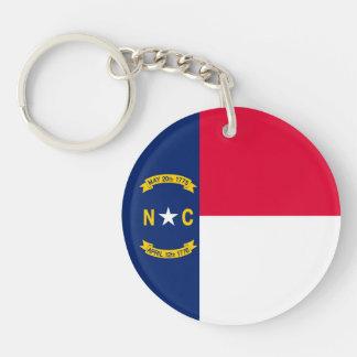 North Carolina State Flag Design Key Ring