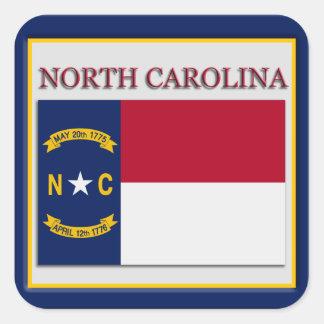 North Carolina State Flag Design Sticker