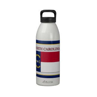 North Carolina State Flag Design Water Bottle
