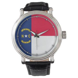 North Carolina State Flag Design Wrist Watches