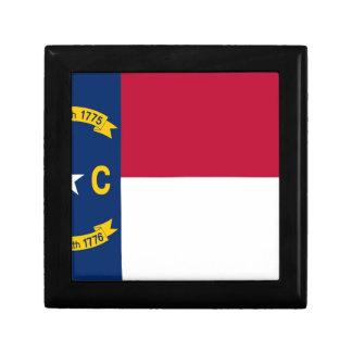 North Carolina State Flag Trinket Box