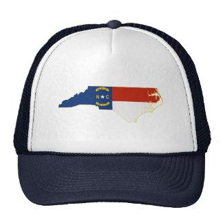 North Carolina State Flag Map Mesh Hats
