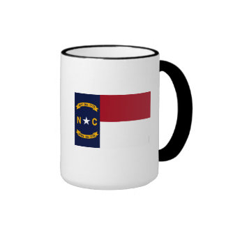 North Carolina State Flag Ringer Mug