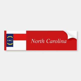 North Carolina State Flag, North Carolina Bumper Sticker