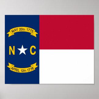 North Carolina State Flag Poster