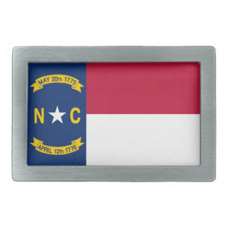 North Carolina State Flag Rectangular Belt Buckles