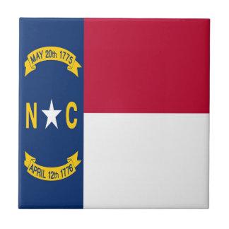 North Carolina State Flag Small Square Tile