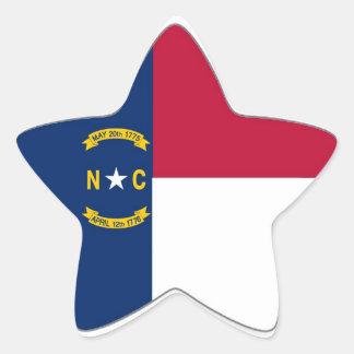 North Carolina State Flag Star Sticker