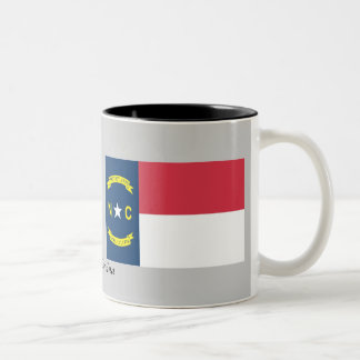 North Carolina State Flag Two-Tone Coffee Mug