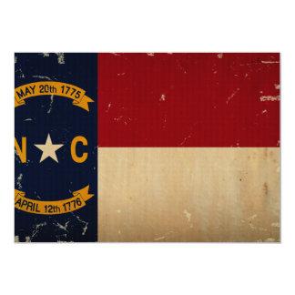 North Carolina State Flag VINTAGE. Announcement