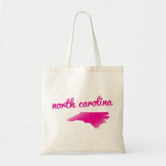 North Carolina state in pink