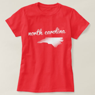 North Carolina state in white T-Shirt