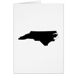 North Carolina State Outline Card