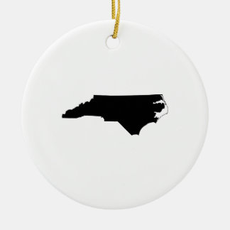 North Carolina State Outline Round Ceramic Decoration