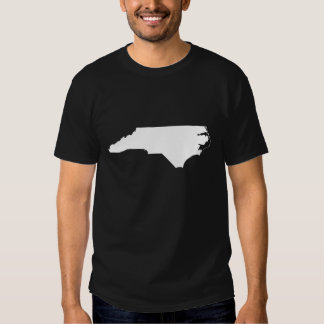 North Carolina State Outline T Shirts
