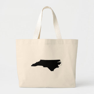 North Carolina State Outline Tote Bags