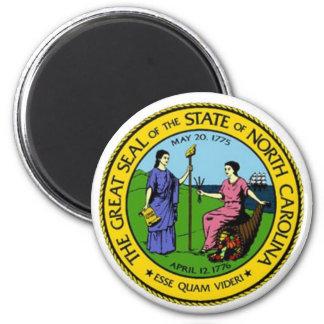 North Carolina State Seal 6 Cm Round Magnet