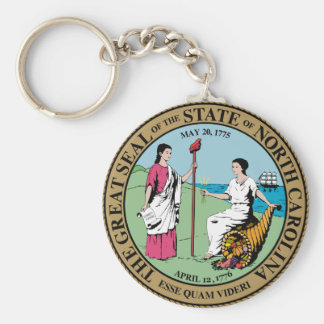 North Carolina State Seal Keychains