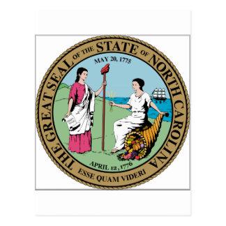 North Carolina State Seal Postcard