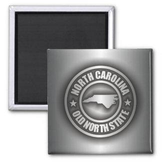 """North Carolina Steel"" Square Magnet"