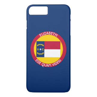 North Carolina Tar Heel State Personalized Flag iPhone 7 Plus Case