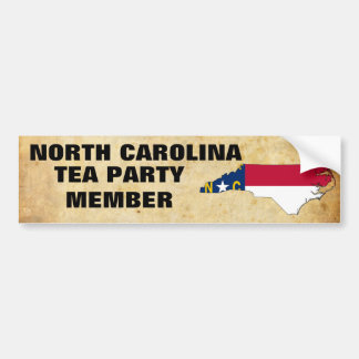 NORTH CAROLINA TEA PARTY BUMPER STICKER