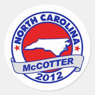 North Carolina Thad McCotter Stickers