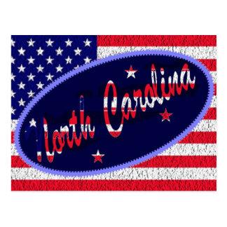 North Carolina US flag postcard