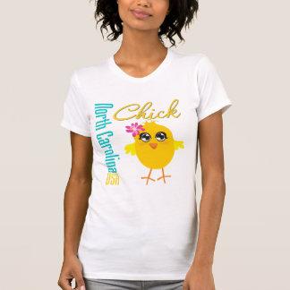 North Carolina USA Chick T-shirt