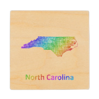 North Carolina Wood Coaster